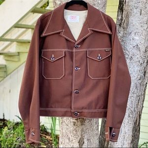 70s Time Out West Western Style Never Iron Jacket